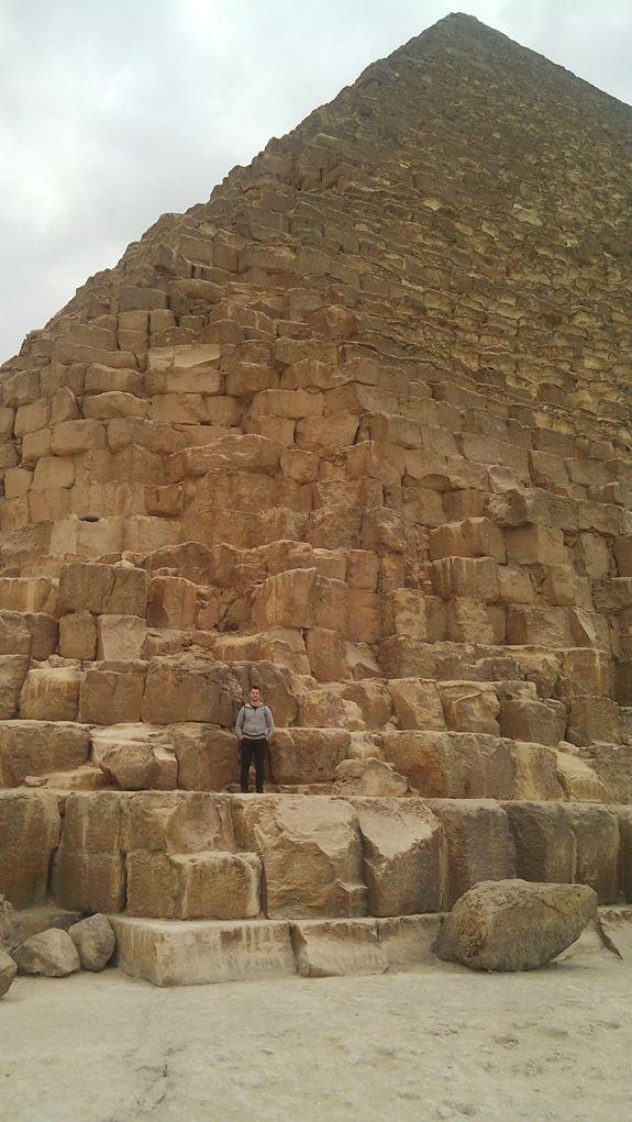 я на пирамиде Хеопса