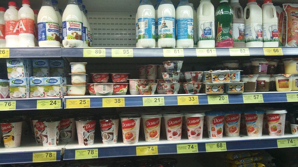 Цена на молоко в Крыму