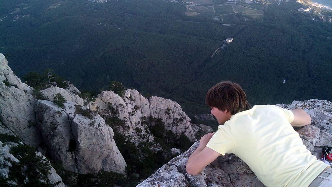 Вид со скалы на Ай-Петри