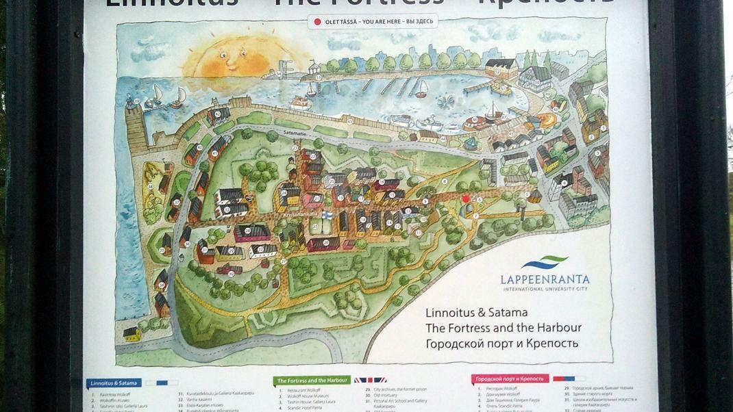 План крепости в Лаппеенранте