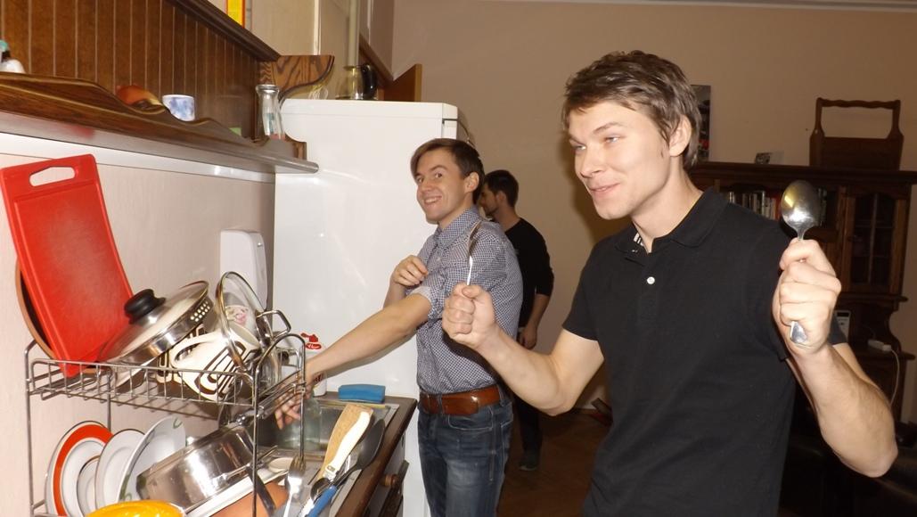 Кухня хостела в Таллине