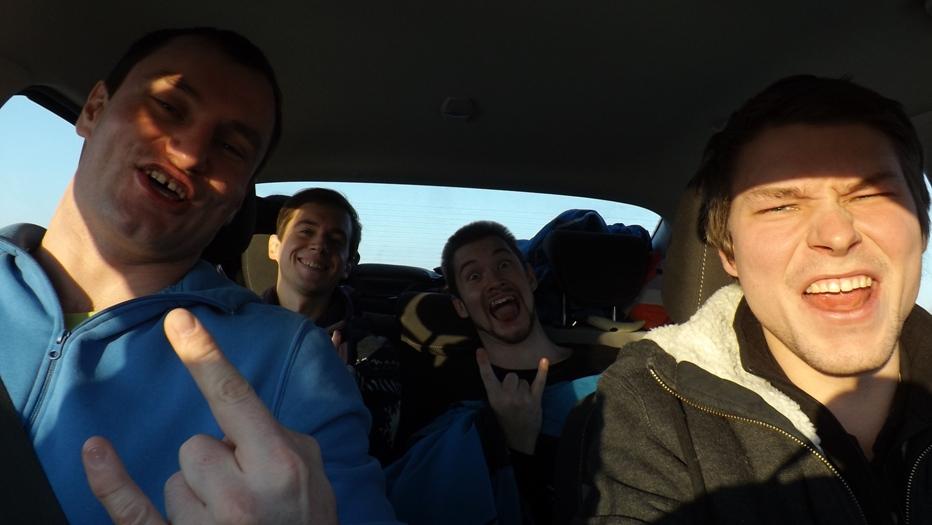 На машине по Европе на новый год