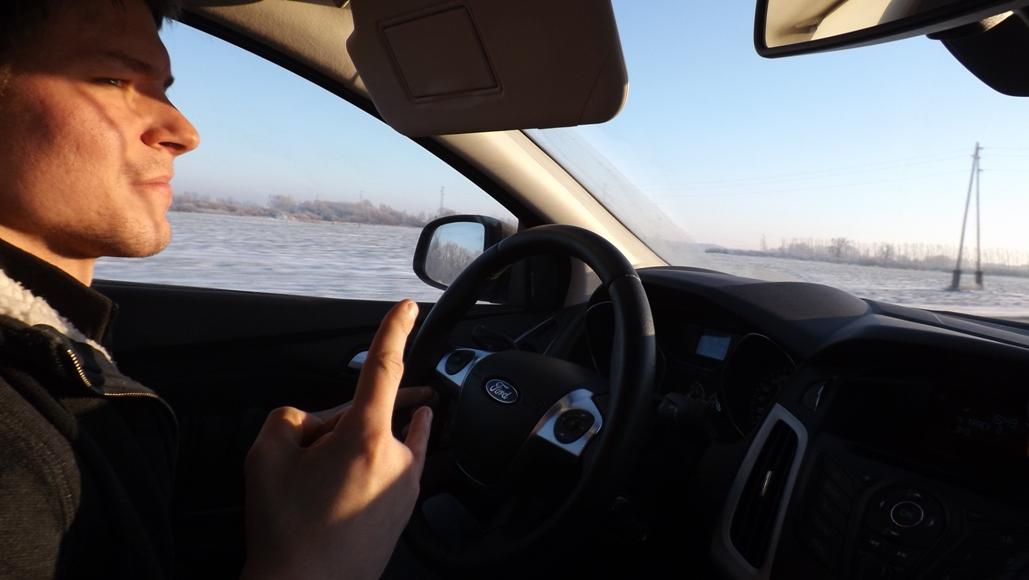 На машине в Вильнюс