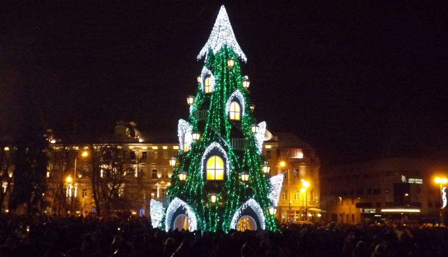 Новогодняя елка в Вильнюсе