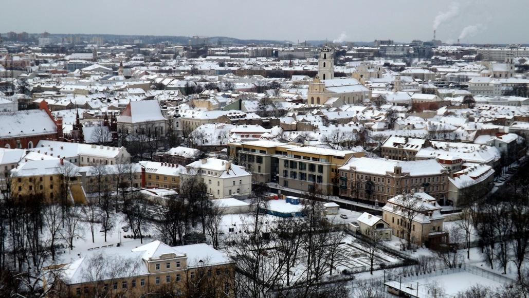 Вид со смотровой на Вильнюс