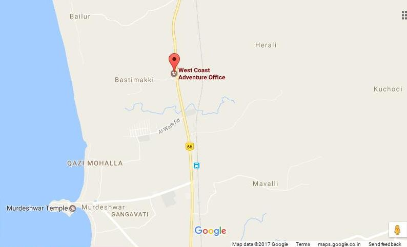 West Coast Adwenture в Мурудешвара на карте