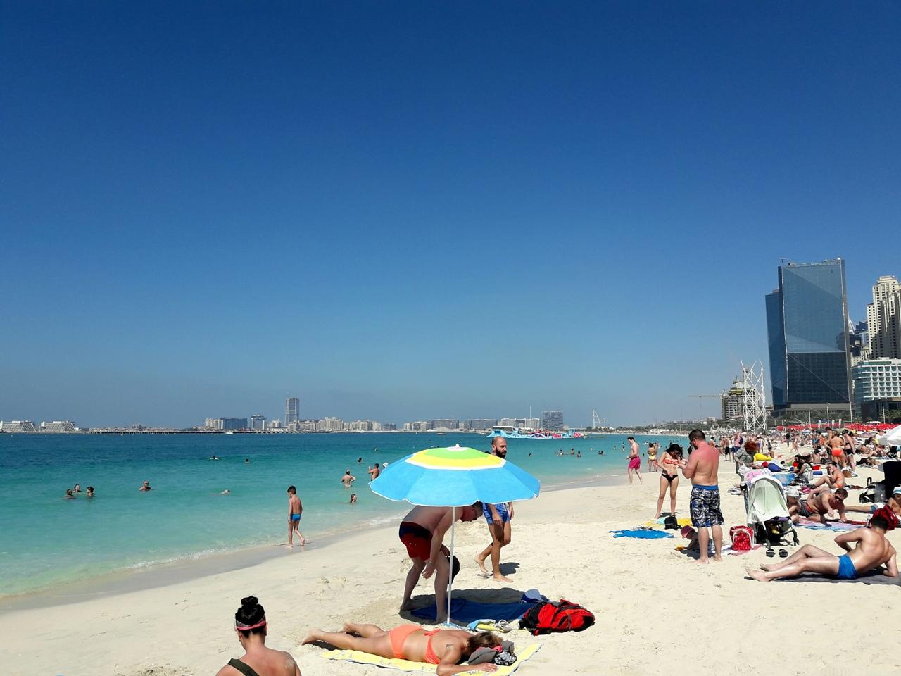 Пляж Марина Бич Дубай 2018