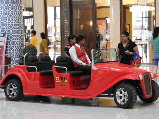 Такси внутри Дубай Мол