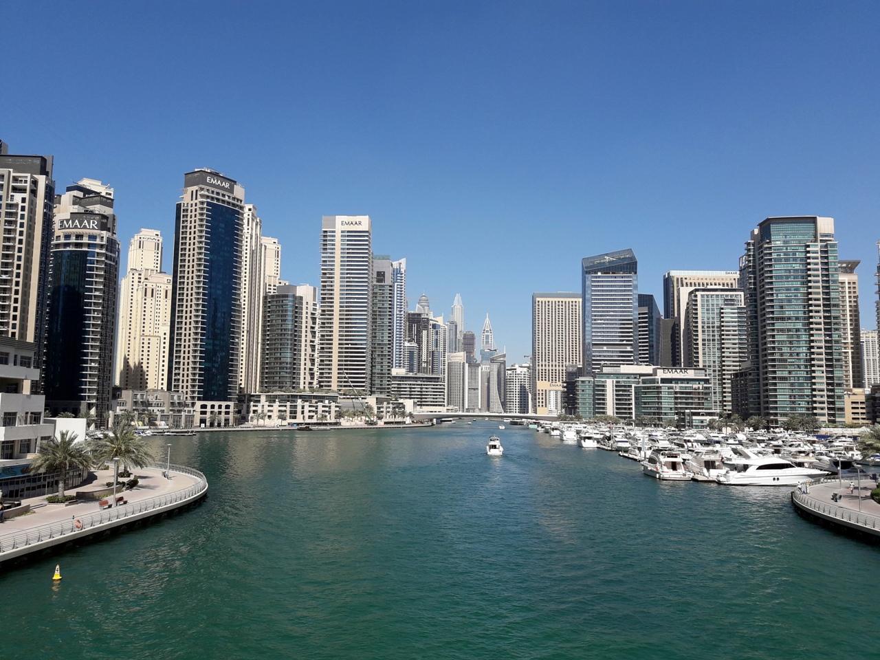 Вид на Дубай Марина