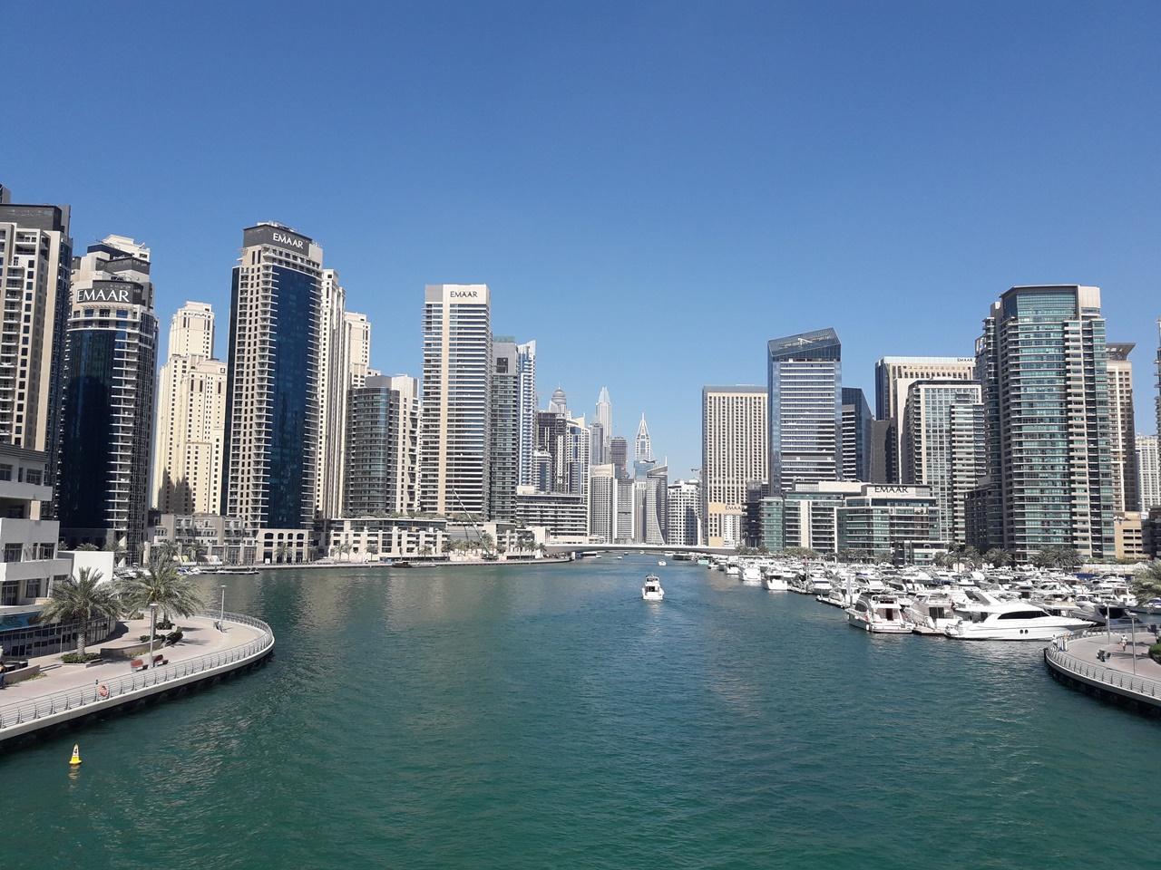 Вид Дубай марина 2019
